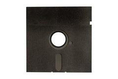黑色盘磁盘查出的白色 库存照片