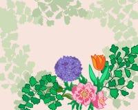 黑色看板卡空白色的花卉花的虹膜 免版税图库摄影