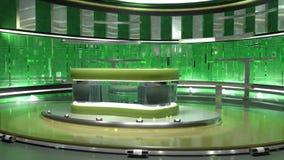 绿色真正集合 皇族释放例证