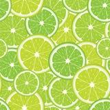 绿色石灰切片的传染媒介无缝的样式 向量例证