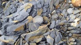 紫色石头 库存图片