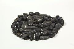 黑色石头 免版税库存照片