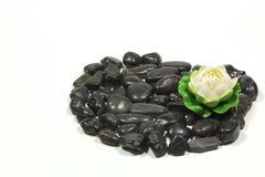 黑色石头 免版税库存图片