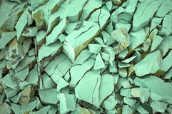 绿色石头 库存照片