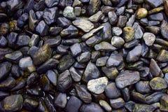 黑色石头 库存照片
