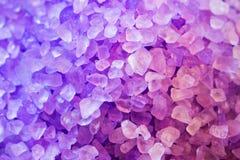 紫色矿物 免版税库存图片