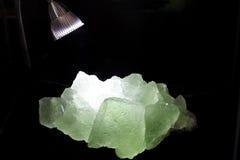 绿色矿石 库存图片