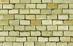 黄色砖墙纹理 图库摄影