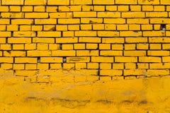 黄色砖墙 图库摄影