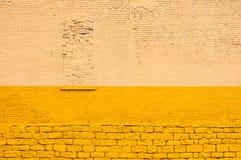 黄色砖墙 库存图片