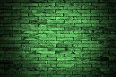 绿色砖墙 库存图片
