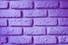 紫色砖墙 库存图片