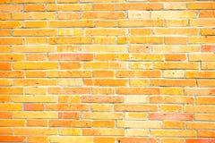 黄色砖水平的纹理背景 图库摄影