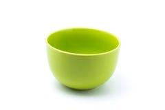 绿色碗 免版税图库摄影