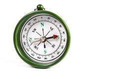 绿色磁性指南针 免版税库存图片