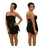 黑色礼服的妇女 免版税图库摄影