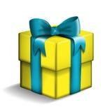黄色礼物盒 皇族释放例证