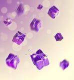 紫色礼物,秋天 图库摄影