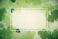 绿色秋天叶子背景 库存照片