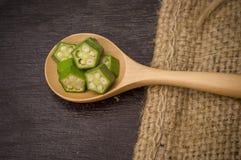 绿色秋葵 库存图片