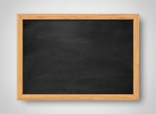 黑色空白黑板 背景和纹理 库存图片