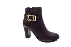 黑色穿上鞋子妇女 免版税库存照片