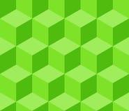 绿色立方体无缝的样式 免版税库存照片