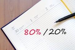 黄色笔记薄百分之概念 免版税库存照片