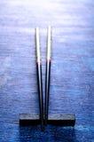 黑色筷子 图库摄影