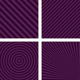 紫色简单的条纹图形集合 免版税图库摄影