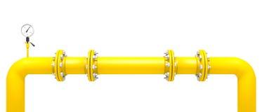 黄色管子 库存例证