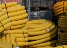 黄色管 免版税库存图片