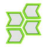 绿色箭头 向量例证