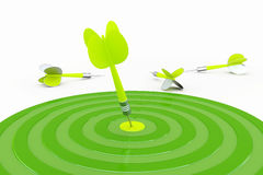 绿色箭 免版税图库摄影