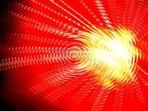 黄色红色卷曲的抽象的背景 库存照片