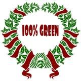 100%绿色红色和绿色花冠 免版税库存照片