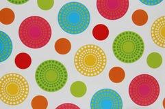 绿色红色蓝色黄色圈子样式白色背景 免版税库存照片
