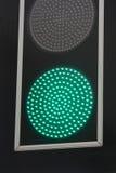 绿色红绿灯信号 免版税库存照片