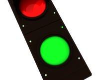 绿色红绿灯 免版税库存照片