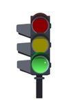 绿色红绿灯 免版税库存图片