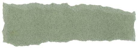 纤维纸纹理-与被撕毁的边缘的绿色 库存照片