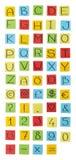 色纸字母表。 库存照片