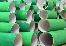 绿色纸板卷 免版税库存图片
