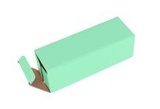 绿色纸板箱 图库摄影