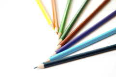色纸铅笔 库存图片