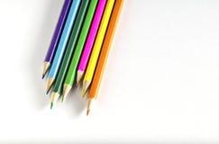 色纸铅笔 库存照片