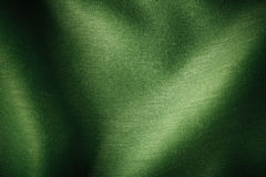 绿色纺织品纹理背景摘要布料波浪折叠  免版税库存照片