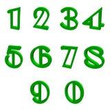 绿色编号 免版税库存照片