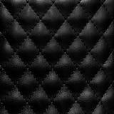 黑色缝制的皮革 免版税图库摄影