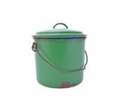 绿色罐 库存图片